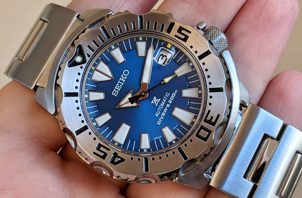 Seiko Monster Blue Coral
